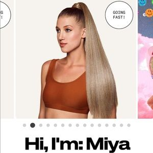 Sephora Makeup - ponytail hair extensions